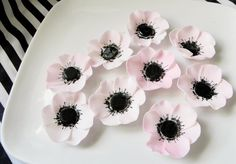 Edible Fondant Anemone Sugar Flowers