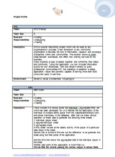 cv format for a bca mca - Bca Resume Format For Freshers