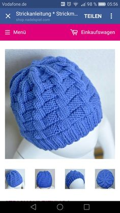 """Knitting directions * Knitted hat """"Leander"""" – for studying child issues directions Crochet will probably be a … Baby Hats Knitting, Baby Knitting Patterns, Knitting Stitches, Free Knitting, Knitted Hats, Bonnet Crochet, Crochet Beanie, Crochet Baby, Beanie Babies"""