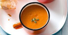 Roasting the tomatoes adds extra sweetness and flavour to this wholesome soup.