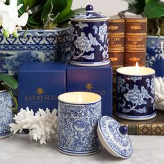 We have added these stunning blue and white ceramic candles to our Dynasty collection. Packaged in a matching gift box, the candles are available in two beautiful scents; White Tea and Ginger Flower or Oriental Rose. After you have finished burning the candle, place our perfectly fitting artificial orchid in soil inside to give your jar new life as a stunning planter.