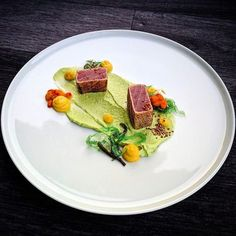 """2,431 Likes, 9 Comments - Linking the Culinary World (@cookniche) on Instagram: """"@cookniche Tuna • goma wakame • beet • peas • sea buckthorn • sesame by Chef Tony Persson…"""""""