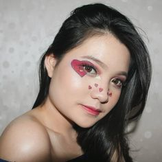 #TATA ❤ㅤㅤㅤㅤㅤ ㅤㅤㅤㅤㅤ [#BT21 TATA Inspired #Makeup] #BT21TATA #BTS Concert Nails, Concert Makeup, Bts Concert, Bts Makeup, Makeup Inspo, Makeup Inspiration, Korean Nail Art, Korean Nails, Bts Halloween