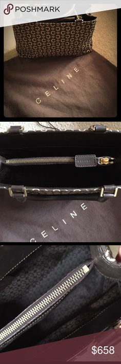 Authentic Celine Handbags Authentic Celine Handbags.This classy little Handbag is nice 👍 to carry when going out to Dinner or to Dance the night away!! Some scuff marks inside interior leather.Handel L10.6 Handel drop 4.7. In good 😊 condition.Please check out pictures for unnecessary returns. Thank your!!!💄 Bags Totes