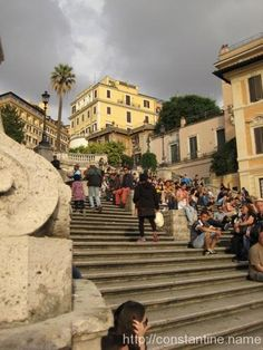 Photos from the Spanish steps - http://constantine.name/photos-from-the-spanish-steps/ - This isn't spectacular per se, but it's pure Rome.
