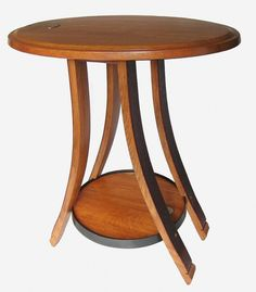 Oval recycled oak wine barrel end/side table by Stil Novo Design. Isn't it so very cute?!?