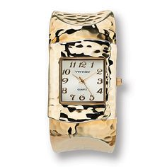 Fabulous fashion cuff takes on a bold look with a square-faced watch and elegant textured design. The right time for thPrice - $49-5yRBzdUN