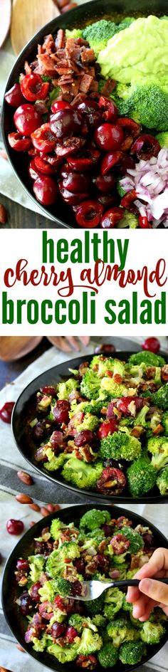 A hearty healthy cherry almond broccoli salad loaded with my favorite antioxidant-rich ingredients. Gluten-free, dairy-free and easily adaptable to vegan.