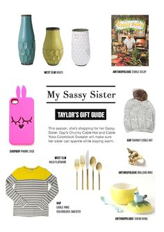"""Gift Guide for a """"Sassy Sister"""" for Gap + Rue Magazine"""