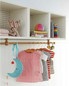 #diy #decokids #ikea #expedit You could also hang photos from this storage above a desk!