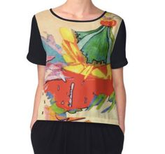 'Volcano' Women's Chiffon Top and various products available at http://www.redbubble.com/people/chrisjoy/works/4838373-the-volcano