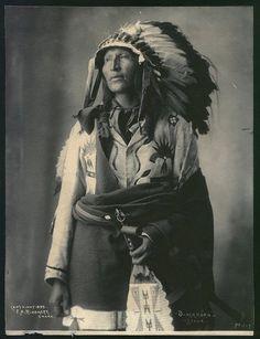 F.A. Rinehart print of Blackhorn Sioux.  1899.