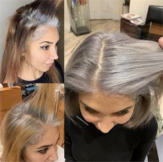 10 Times Jack Martin Helped His Clients Go Gray - Hair Color - Modern Salon Hair Color Highlights, Hair Color Dark, Ombre Hair Color, Blonde Color, Cool Hair Color, Gray Color, Grey Hair Transformation, Ombre Blond, Icy Blonde