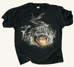 4b4a4e0e4 Men's Cotton T-shirt - Gator Encounter - Small. Mens Cotton T ShirtsScience  Tshirts