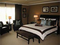 Dormitorios Marron y Blanco . El color marrón  es un color sobrio y elegante que combina con el color blanco, negro y crema. Un dormitorio m...