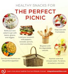Healthy Picnic Food, I would love a picnic basket like this one!