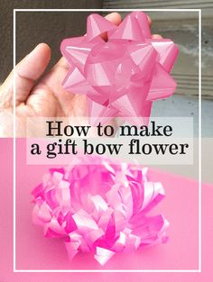 How to create a ribbon blossom out of normal store bought bows