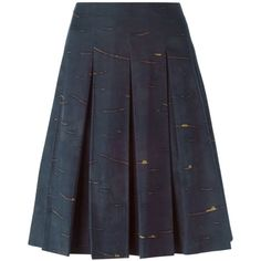 Prada Vintage Pleated Print a-Line Skirt (240 CAD) ❤ liked on Polyvore