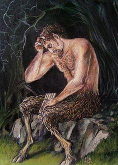 Satyr Greek Mythology Pagan God