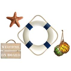 These seaside stickersare wall decals representing a life buoy sticker on other Navy Nautical stickers  Ref :152768 1board :48 x 68 cm 4 nautical wall stickers.