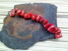 14 Medium to Large Bamboo Coral Nugget beads  5 1/2 by SkullMoto, $3.50