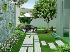 Một số thiết kế sân vườn cho gia đình anh Hùng