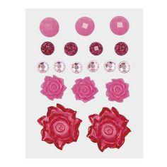 Z1894 -- Base & Bling Pink Jewels -- $5.95. 2 – 22mm acrylic flowers 3 – 12mm resin flowers 6 – 6mm sparkles 4 – 7mm glitter gems 3 – 10mm enamel gems SHOP: www.keeleyskreations.ctmh.com