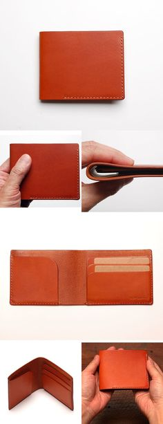 TANZO Leather Wallet Pattern, Slim Leather Wallet, Handmade Leather Wallet, Sewing Leather, Leather Gifts, Diy Leather Craft Tools, Leather Projects, Small Leather Goods, Leather Accessories