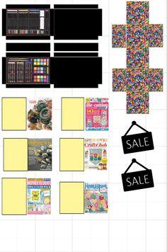 Craft Shop, Craft Stores, Paper Dolls Clothing, Barbie Coloring Pages, Barbie Miniatures, Barbie Food, Mini Craft, Miniature Crafts, Miniture Things