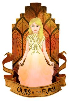 Myrcella Baratheon from A Song of Ice And Fire by George R. R. Martin. Illustration by Azim Al Ghussein.