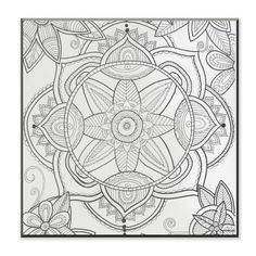 Stupell Kaleidoscope Pond Flower DIY Coloring Wall Plaque