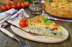 Рецепт открытого пирога с курицей и грибами