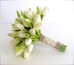 Image result for white tulip bouquet wedding