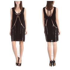 """NWT Diesel Black Sequined Flapper Diripp Dress XS New with Tags... Diripp Racerback strap cutout dress in ombré sequins. Shift dress. Never worn... XS Dazzle the drones with the Diripp Dress by Diesel™. Lightweight crepe dress. Stunning sequin detail is sure to stop traffic. Scoop neck front and back. Sleeveless. Side zip closure. Fully lined. 30"""" length. 100% viscose. Dry clean only. Diesel Dresses Backless"""