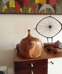 Large Doug Ayers Sculptural Wood Vase on Etsy, $650.00