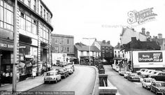 Kidderminster, Blackwell Street c.1967, from Francis Frith Collection. The split level road has now gone, as have the buildings on the right - now the Swan Centre shopping centre and at this location a multi storey car park.