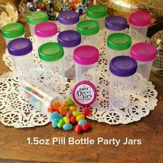 DecoJars.com  24 RX Style Pill Candy Bottles JARS Party Favors 1.5oz McStuffins 3814 DecoJars