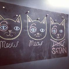 Meow Meow Satan #cat #art