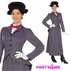 Mary #poppins victorian nanny #fancy dress costume edwardian adult #disney book d,  View more on the LINK: 	http://www.zeppy.io/product/gb/2/331630205113/