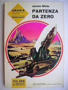 """Il romanzo """"Partenza da zero"""" (""""Open Prison"""", conosciuto anche come """"The Escape Orbit"""") di James White venne pubblicato per la prima volta nel 1963. In Italia è stato pubblicato da Mondadori nei nn. 355 e 756 della collana """"Urania"""" e nel n. 101 del giugno 2011 della collana """"Urania Collezione"""" assieme al romanzo """"Vita con gli automi"""". Illustrazione di copertina di Karel Thole per le edizioni su """"Urania""""."""