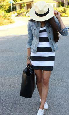 Look: Jeans + Listras