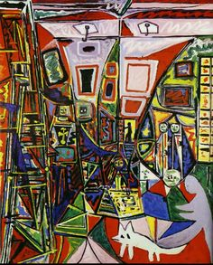 Another Las Meninas reinterpretation by Picasso.  Museu Picasso in Barcelona, Spain. Pablo Picasso, Art Picasso, Picasso Paintings, Picasso Style, Instalation Art, Cubist Movement, Image New, Georges Braque, Art History