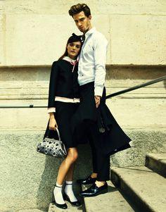 Nikolay Biryukov Photographs a Love Story for Elle Ukraine September 2012; via fashion gone rogue