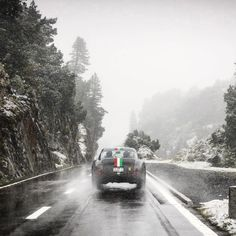 "2,399 Likes, 9 Comments - Petrolicious (@petrolicious) on Instagram: ""🎵Dashing through the snow, in a super rare Ferrari SWB 🎵 • 📷: @danielzizka • #DriveTastefully"""