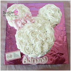 minnie buttercream cake  #barranquilla #pinksugar #tortasbarranquilla
