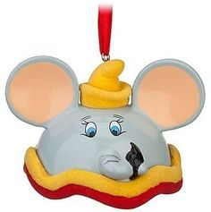 Dumbo Hat Ornament Disney Low 324 of 3000 Mickey Ear Christmas Limited Edition | eBay