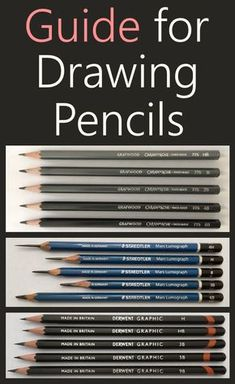art dibujos Guide for drawing pencils and pencil drawing equipment and supply including recommended paper sheets, erasers, fixative and much more. Drawing Techniques Pencil, Pencil Drawing Tutorials, Pencil Art Drawings, Drawing Skills, Drawing Lessons, Art Drawings Sketches, Easy Drawings, Drawing Guide, Basic Drawing