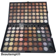 120 colores mate sombra de ojos profesional / maquillaje en polvo seco paleta de cosméticos de maquillaje ahumado / maquillaje de fiesta - USD $ 9.99