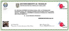 Reconocimientos 2014: Juan Moreno Moreno Distinción Rafael Morales Caballero