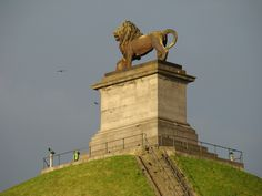 Moved to Belgium, aged 3, not too far from the Butte de Lion, built to commemorate the Battle of Waterloo and defeat of Napoleon. First of many stays in Belgium.